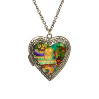 The Book Of Life Heart Locket Necklace