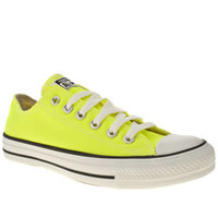 Women's Yellow Converse All Star Ox V at schuh