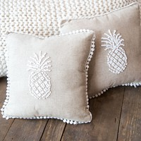 Pineapple French Knot Pillow