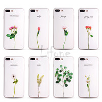 Kerzzil 3D Relief Summer Fresh Rose Peony Tulip Lilac flower soft Case For iPhone 7 6 6S Plus Phone leaf Cover Back For iPhone 7
