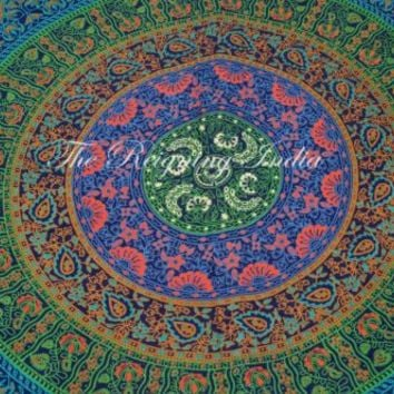 Cotton Mandala Tapestry Bedding Wall Psychedelic Tapestry Twin Home Decor 2172