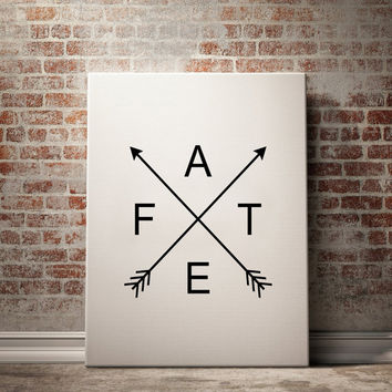 Printable Wall Art ''Fate'' Poster Minimalist Decor Office Wall Art Bedroom Poster Home Decor Instant Download Modern Prints Quote Wall Art