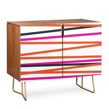 Khristian A Howell Crew Stripe Warm Credenza