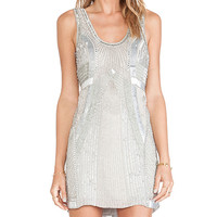 Parker Comoros Sequin Dress in Gray
