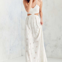 Winston White Eyelet Cutout Maxi Dress - Urban Outfitters