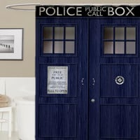 doctor who custom shower curtain, curtains