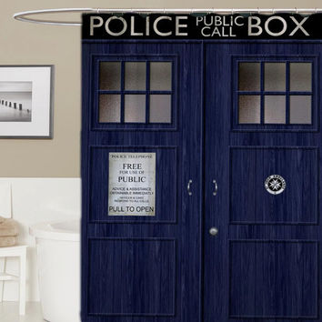 Doctor Who Custom Shower Curtain Curtains