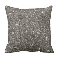 White, Silver, Gray, Bling, Diamond, Throw Pillow