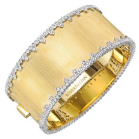 Roberto Coin Diamond Gold Cuff Bracelet