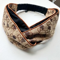 GUCCI Fashion New Embroidery More Letter Bee Cross Women Men Headband