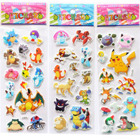 Pokemon Foam 3D Sticker Cute Pikachu Stickers Cartoon Anime Pokemon Stickers Rooms Home Decor Notebook Label Decoration toy