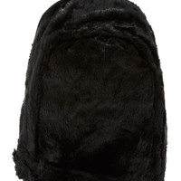 Ktz Ssense Exclusive Black Fur And Leather Backpack