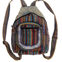 "Southwest Patch Backpack. 11"" by 13"". Fair Trade."