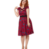 Cats On A Wire Flare Dress