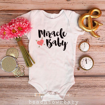 Miracle Baby Bodysuit; Take Home Outfit; Miracle Baby Onesuit; Baby Shirt; Baby Shower Gift; New Baby Onesuit; Cute Baby Onesuit; Adorable