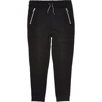 River Island Boys black drop crotch joggers