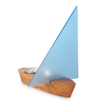 Set Sail Tealight Holder | tealight holder, boat decor