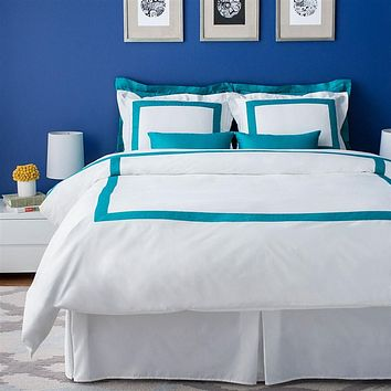 Hotel Collection Turquoise Duvet Cover Set