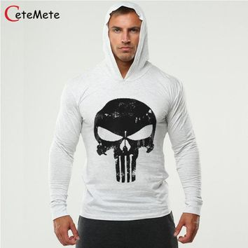 Brand Clothing Hoodies Men Gymclothing Hombre Sweatshirt Skull Hoodie Male Sweatshirts Casual Mens Sportclothing Coat
