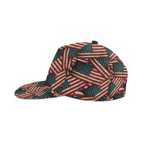 Patriotic USA American Flag Art All Over Print Snapback Hat | ID: D2646963