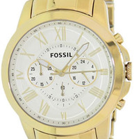 Fossil FS4814 Gold Tone Mens Watch