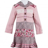 Naartjie Kids | Baby Girl Clothes | Naartjie Baby Girl Clothes | Ribbon Trimmed Pieced Hooded Dress