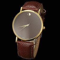 PU Leather Watch for Mens Women + Gift Box 22