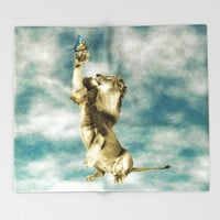 The Lion and the Butterfly Throw Blanket by Octavia Soldani | Society6