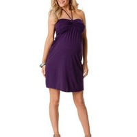 Motherhood Maternity: Sleeveless Halter Maternity Dress