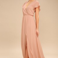 Lost in the Moment Blush Maxi Dress