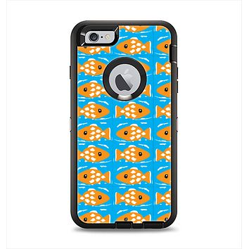 The Seamless Vector Gold Fish Apple iPhone 6 Plus Otterbox Defender Case Skin Set