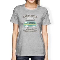 California Beaches Endless Summer Womens Grey Shirt