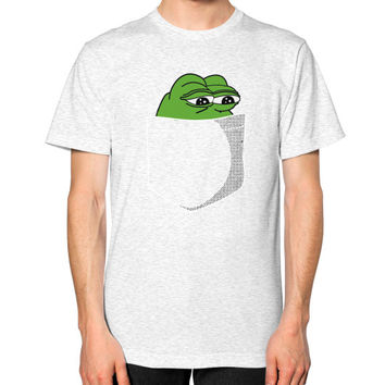 Pepe in your Pocket Unisex T-Shirt (on man)