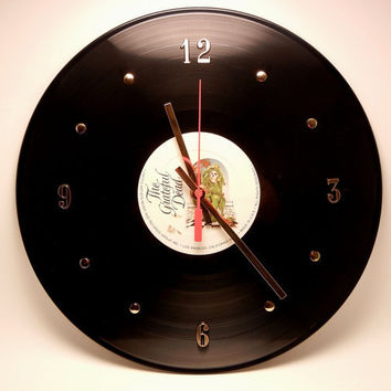 "GRATEFUL DEAD Vinyl Record Wall Clock ""Blues For Allah"" by RecordsAndStuff"
