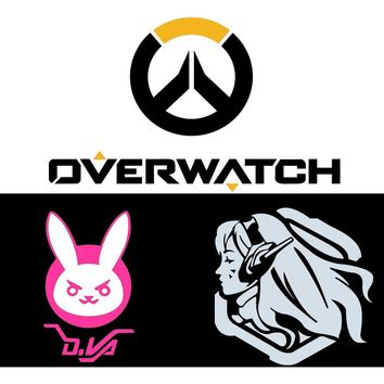 Overwatch Dva Vinyl Decals