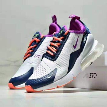 NIKE AIR MAX 270 FLYKNIT Fashion Women Casual Breathable Running Sport Air Cushion Shoes Sneakers