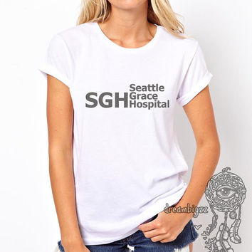 SGH Seattle Grace Hospital printed on Women tee