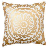 Metallic Medallion Pillow Cover