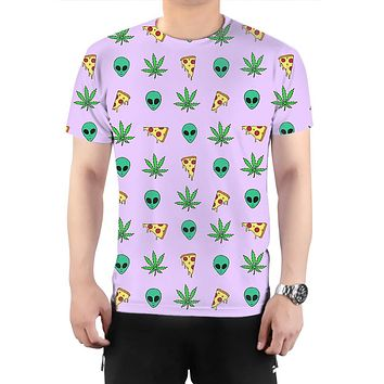 Alien, Pizza, Weed T-Shirt