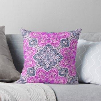 'Mehndi Ethnic Style ' Throw Pillow by MEDUSA GraphicART