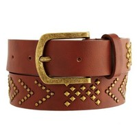 Tribal Studded Skinny Belt: Charlotte Russe