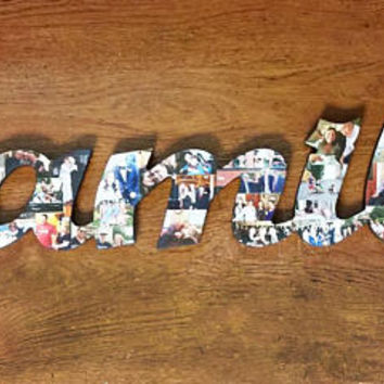 Photo Collage, Letter Photo Collage, Photo Collage Letter, Custom Photo Collage, Collage, Personal Photo Collage, Custom Photo Letters