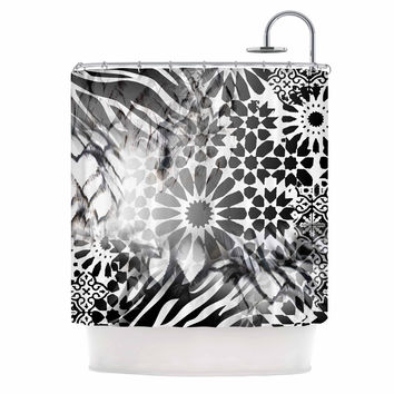 "Victoria Krupp ""Out Of Morocco"" Black Abstract Shower Curtain"