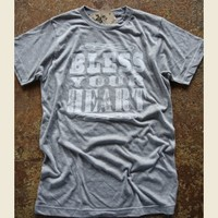 BLESS YOUR HEART GREY UNISEX - Junk GYpSy co.