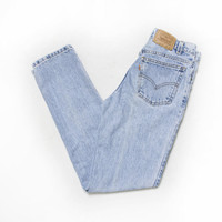 Vintage Levi's 505 JEANS - 1990s Denim Slim Fit Tapered Leg Mom Jeans - Small S