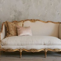 Vintage Gilt Louis XV French Style Setttee