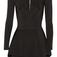 Balmain - Stretch-twill peplum mini dress