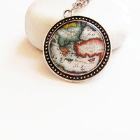 map of ottoman handmade resin necklace by aynurdereli on Etsy