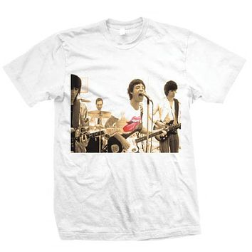 Rolling Stones Group Photo - Mens White T-Shirt