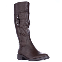 SC35 Astarie Buckle Knee High Boots - Brown